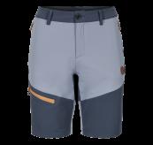 Womens Vipe Shorts i fargen Eventide/Vintage Indigo/Blazing Orange fra Tufte Wear. Produktbildet viser shortsen sett forfra