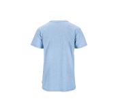 Mens Eco Green City Tee  Light Blue Melange fra Tufte Wear. Bildet viser tskjorten sett bakfra