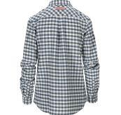 Amundsen Flannel Shirt til dame i fargen chequered blue. Produktbildet viser skjorten sett bakfra