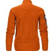 Amundsen Peak Half Zip til dame i fargen Iron Rust. Produktbildet viser genseren sett bakfra