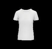 Crew Neck T-shirt til dame fra Tufte Wear i fargen White. Produktbildet viser tskjorten sett forfra