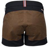 5 incher field shorts fra amundsen sports til dame i fargen Faded Navy/Tan produktbildet viser shortsen sett bakfra