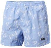 Colwell Trunk badeshorts til herre fra Helly Hansen  i fargen coast blue. Produktbildet av shortsen viser den sett forfra