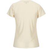 Summer Wool Tee Garment Dyed tskjorte fra Amundsen Sports til dame  i fargen natural. Produktbildet viser tskjorten sett fra baksiden