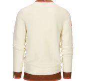 Drifter Sweater til herre fra Amundsen Sports i fargen oatmeal. Produktbildet viser genseren sett bakfra