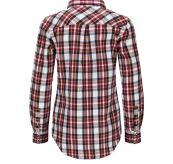 Skauen Field Shirt fra Amundsen Sports i fargen Chequered White til dame. Produktbildet viser skjorten sett bakfra