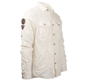 safari linen shirt herre hvit fra amundsen sports produktbilde sett fra siden