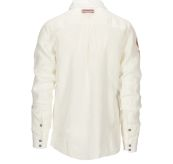 Safari Linen shirt garment dyed fra Amundsen Sports til herre i fargen natural. Produktbildet viser skjorten sett bakfra