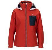 Drifter Jacket fra Amundsen Sports til dame i fargen red clay. Bildet viser jakken sett forfra