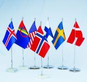 diverse nasjoner bordflagg
