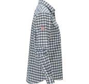 Amundsen Flannel Shirt til dame i fargen chequered blue. Produktbildet viser skjorten sett fra siden