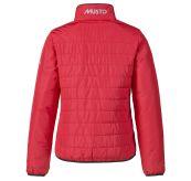 W Corsica Primaloft Jacket til dame fra Musto. Jakken er rød og produktbildet viser jakken bakfra
