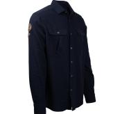 safari flanel shirt herre fra amundsen sports blå sett skrått forfra