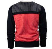 Pinstripe Crew fra Amundsen Sports til herre i fargen weathered red. Produktbilde sett bakfra