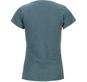 Summer Wool Tee Garment Dyed tskjorte fra Amundsen Sports til dame  i fargen faded blu. Produktbildet viser tskjorten sett fra baksiden