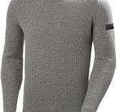 Arctic Shore Sweater fra Helly Hansen i fargen grey melange. Produktbilde sett forfra