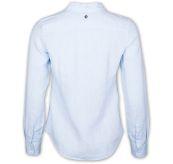 sebago bianca linen shirt light blue. produktbilde tatt bakfra