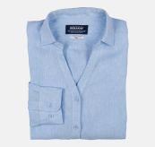 sebago bianca linen shirt light blue. produktbilde brettet