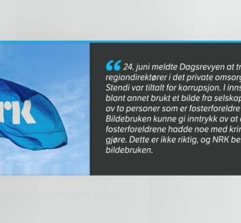 NRK beklager bildebruk i Stendi-sak