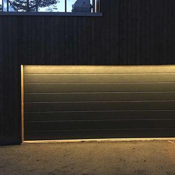 Belysning garasjeport