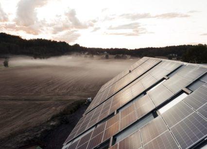 Nytt solcelleanlegg på Tufte gård