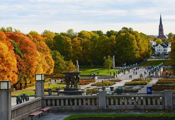 Oversiktsbilde av Vigelandsparken som ligger i nærheten av Gabels Park.