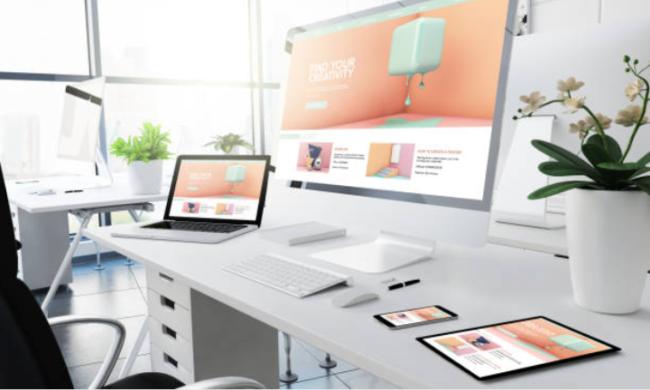 Illustrasjonsbilde av fleksibelt webdesign