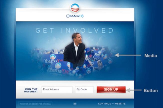 bilde av obama-kampanje