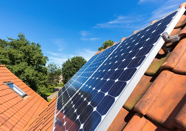 Solcellenlegg på tak