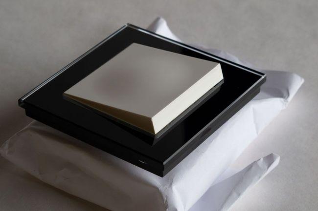 lysbryter med sort ramme fra elko