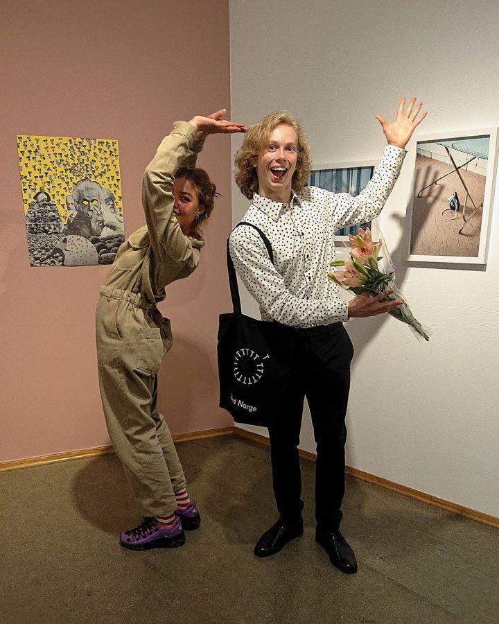 Vera Moi og Ivo Ek i utstillingen
