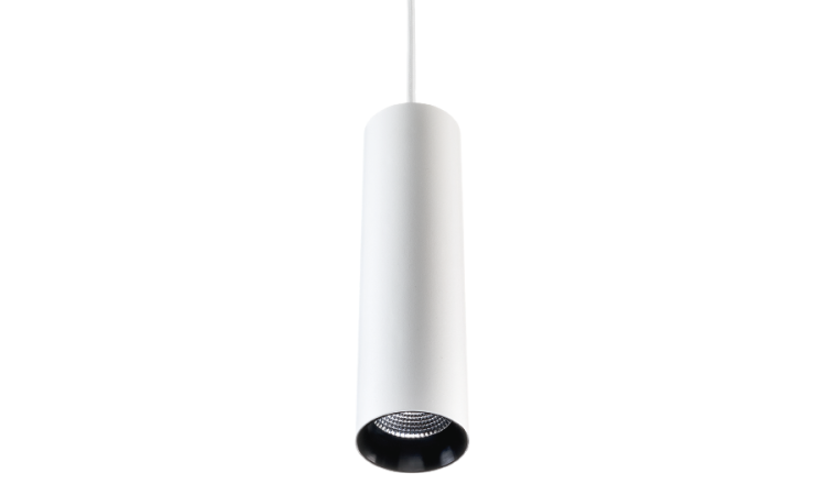 Zip Tube Mini Pendant White Pendant 870lm 3000K Ra 98 Trailing edge dimming