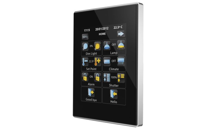 KNX touchpanel til smarthusstyring