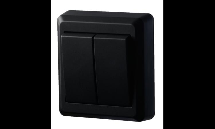 Bryter Betek Påvegg topol m/kronevender sort