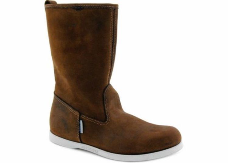 hankø boots fra sebago. brunt skinn, produktbilde sett fra siden