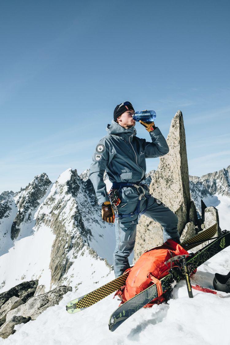 Amundsen Sports Peak Panther til herre i fargen Faded Blue. Produktbilde sett forfra
