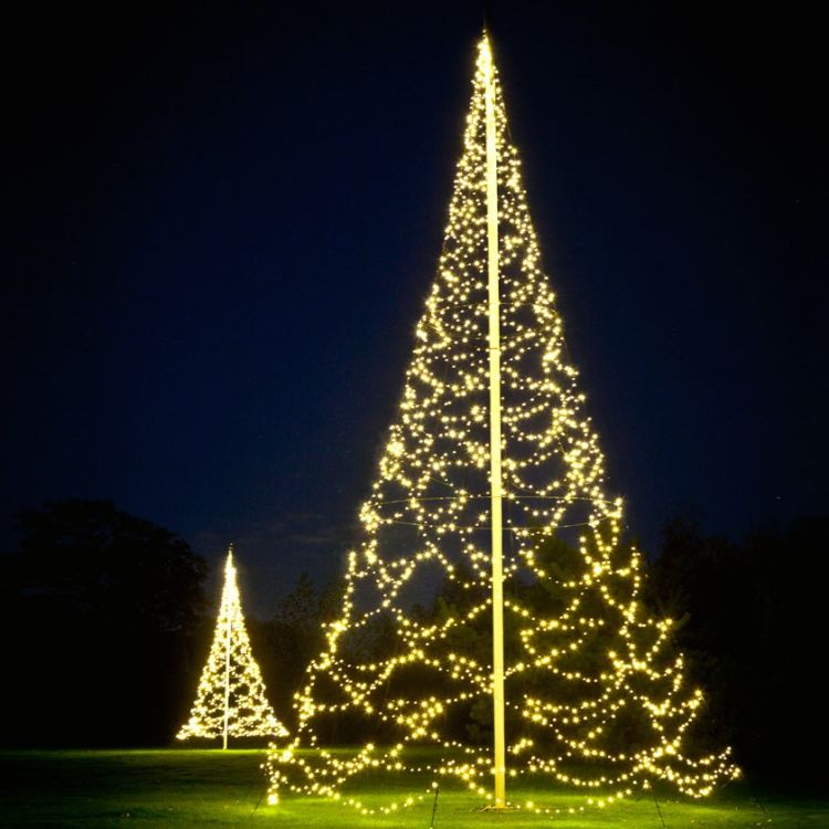Fairybell lyslenke til flaggstang 10 m. Flott juletrebelysning i hage