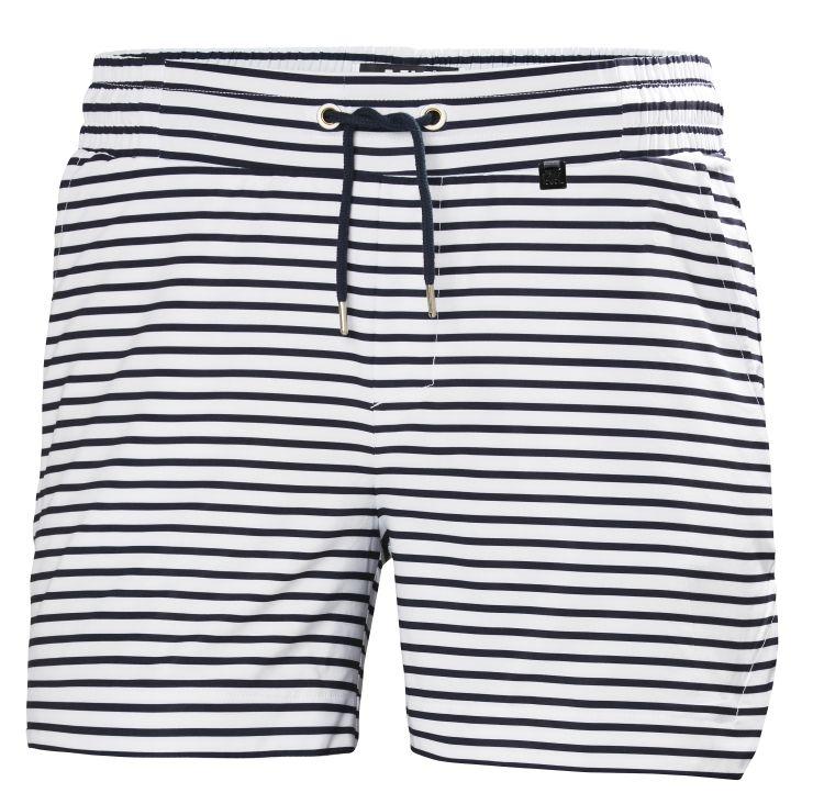 Thalia 2 Shorts fra Helly Hansen til dame i fargen navy stripe. Produktbilde av shortsen sett forfra