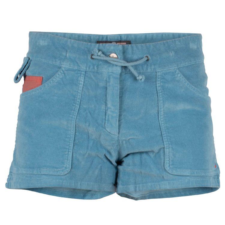 3 Incher Concord garment dyed shorts fra Amundsen sports til dame i fargen arona blue. produktbildet viser shortsen sett forfra