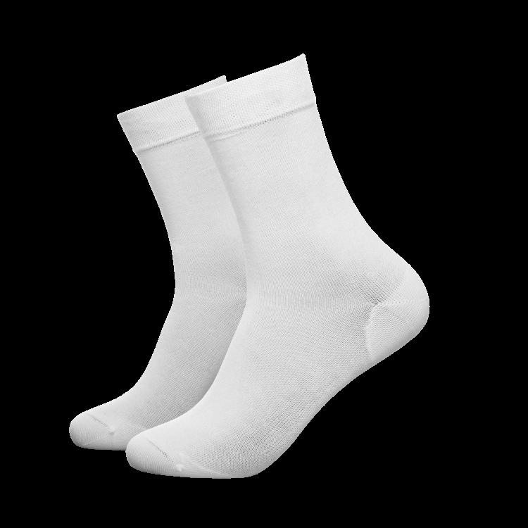 Crew sokker i hvitt fra Tufte Wear