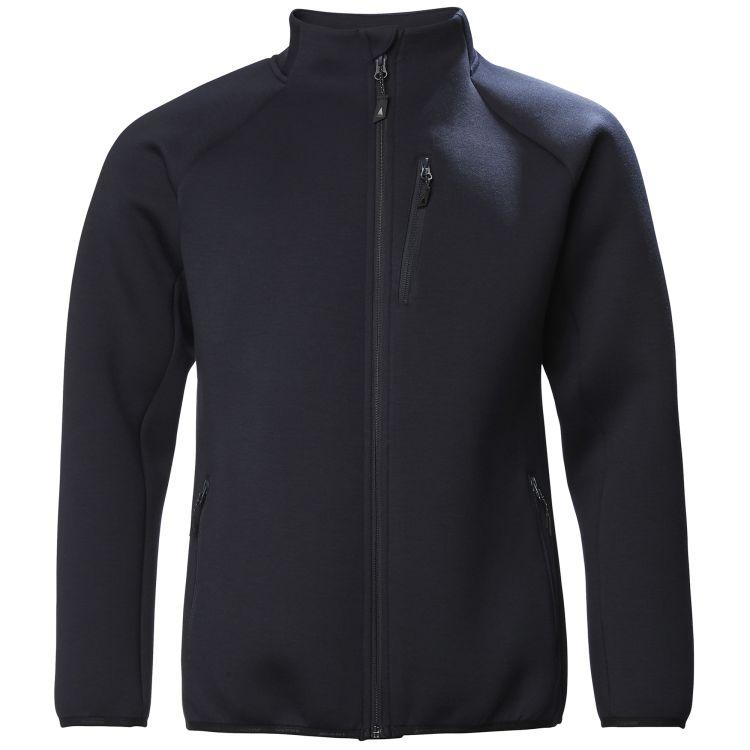 Evolution Full Zip Tech Sweater fra Musto i fargen True Navy. Prdouktbildet viser jakken sett forfra