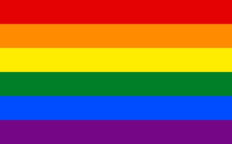 Regnbueflagg illustrasjonsbilde
