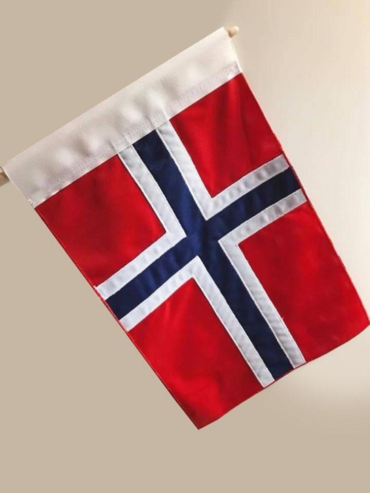norsk flagg til mc - uten stang