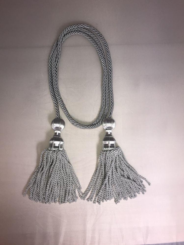 bardunsnor til midtstilt fane sølv