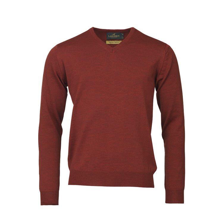 Sussex v-neck genser til herre fra Laksen Sporting. i fargen grape