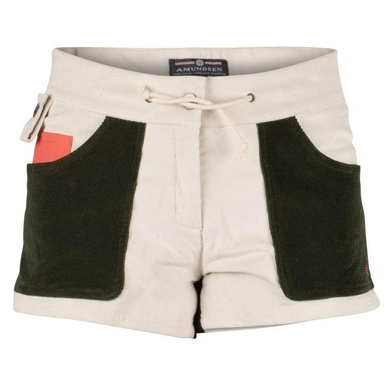3 Incher Concord shorts fra Amundsen sports til dame i fargen Natural/Olive. produktbildet viser shortsen sett forfra