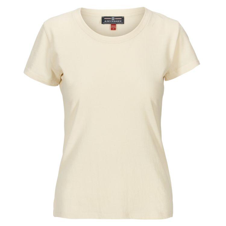 Summer Wool Tee Garment Dyed tskjorte fra Amundsen Sports til dame i fargen natural. Produktbildet viser tskjorten sett forfra