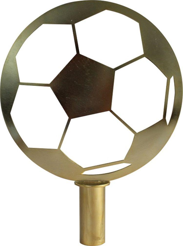 toppstykke fane fotball i messing