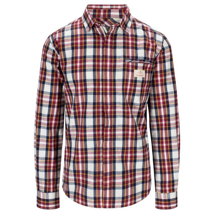 Skauen Field Shirt fra Amundsen Sports i fargen Chequered White til herre. Produktbildet viser skjorten sett forfra