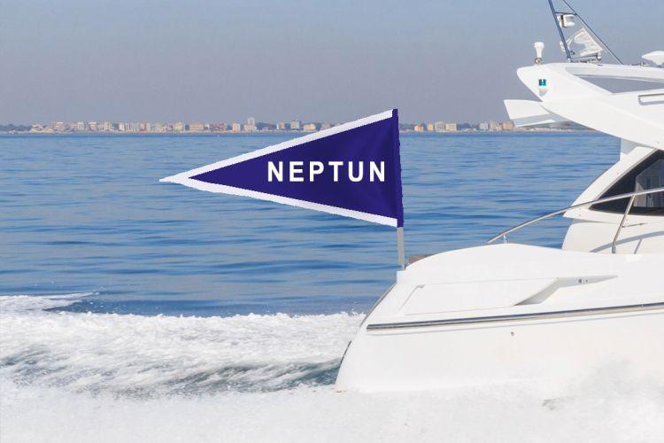båtvimpel med tekst - på båtstang